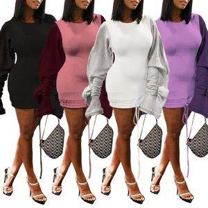 Sweaters - Puff sleeve sweater dress
